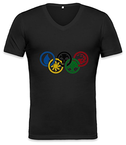 Magic-The-Gathering-Olympics-Unisex-V-neck-T-shirt