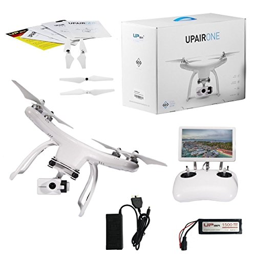 UPair One Drone with 2.7K HD Camera, 5.8G FPV Monitor Transmit Live Video, 2.4G Remote Controller, GPS Auto Return Function, a key to Return 7inch Screen ...