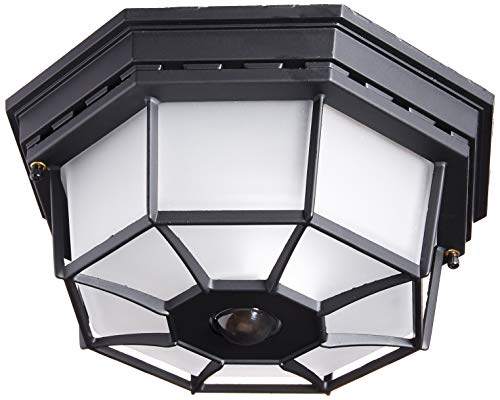 - Heath Zenith HZ-4300-BK-B 360-Degree Motion-Activated Octagonal Ceiling Light, Black