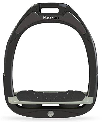 FLEX en absorción de golpes Composite los Estribos Con Ultra Grip–Negro con Rosa elastómeros