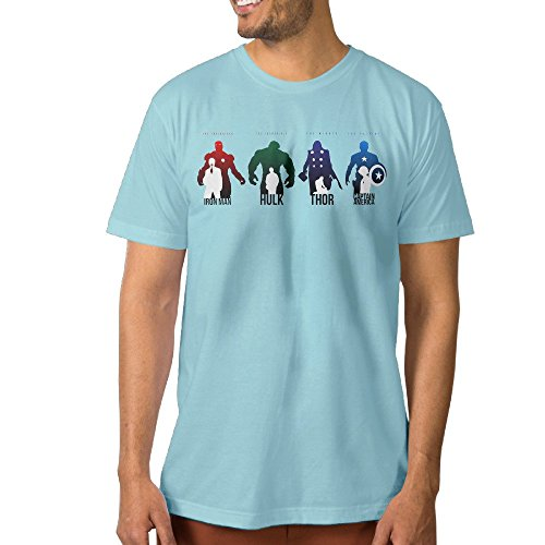 Joker Costumes Union Suit (Make Your Own Men's Tees Iron Giant Thunder Union 3X SkyBlue)