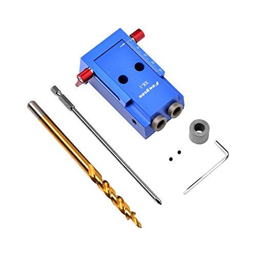 SHUOGOU Mini Pocket Slant Hole Jig Kit + 9.5mm Step Drilling Bit Dowelling Jig Wood Work Tool Set by SHUOGOU (Image #3)