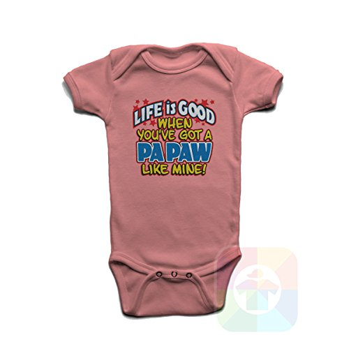 Custom Tshirts and Hats Baby Onesie Life is Good When You Ve Got A Papaw Like Mine - 8236 ()