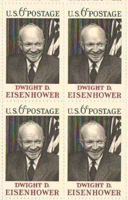 Amazon Dwight D Eisenhower Set Of 4 X 6 US Postage Stamps