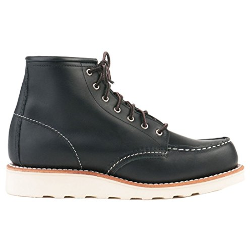 Red Wing Heritage Women's 6 Inch Moc Work Boot, Black Boundary, 8 B US