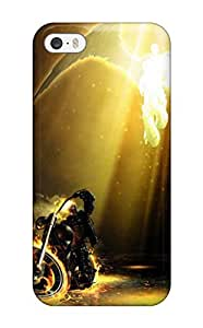 YVaxKbp5832WhkUu Tpu Phone Case With Fashionable Look For Iphone 5/5s - Ghost Rider & Angel