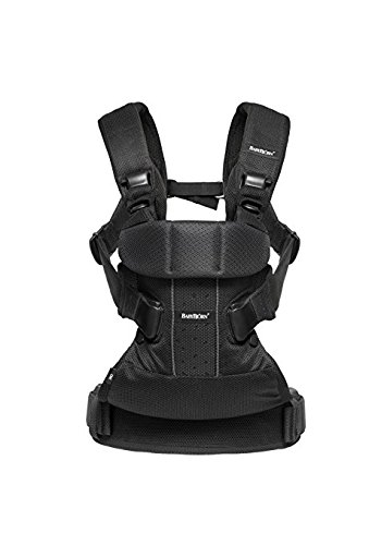 BABYBJORN Baby Carrier One - Black, Mesh