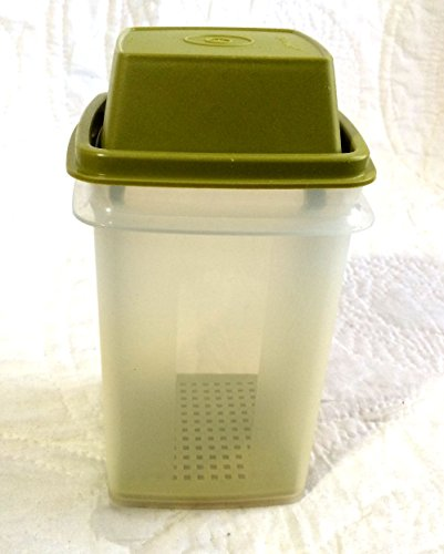 - Tupperware - Green & Clear Pick a Deli - Pickles / Olive 3 Piece Storage Container - 7 1/2 Inches High By 3 3/4 Inches Wide
