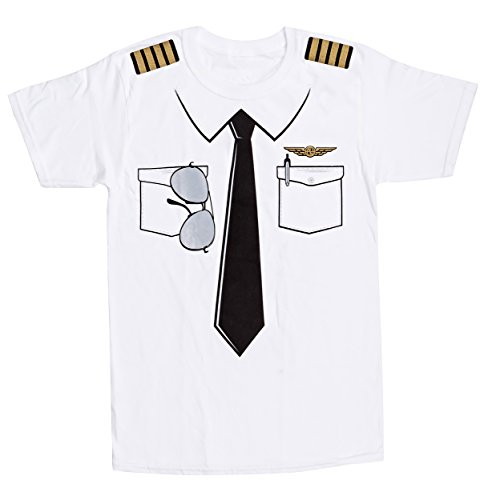 - Luso Aviation The Pilot Uniform T-Shirt,White,X-Large
