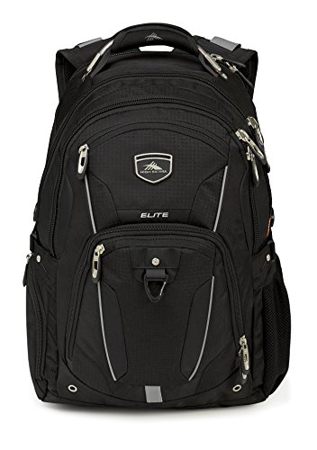 High Sierra Elite Laptop Backpack, Black