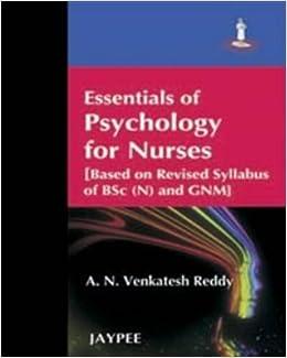 Essentials of Psychology for Nurses 1st Edition price comparison at Flipkart, Amazon, Crossword, Uread, Bookadda, Landmark, Homeshop18