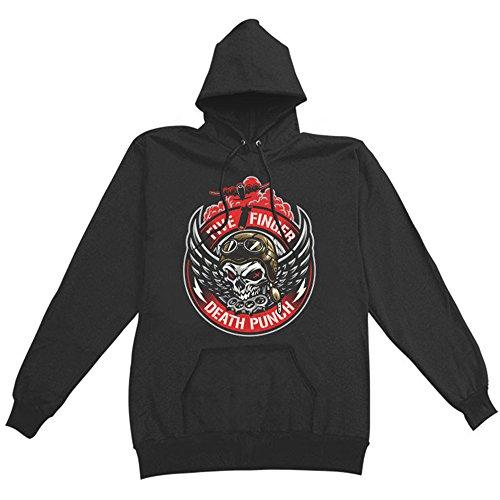 Five Finger Death Punch Men's Bomber Patch Pullover Hoodie L Finger Sweatshirt