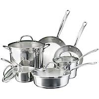 Farberware Millennium Series 10 Piece Cookware Set (Stainless Steel)