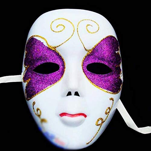 Mask Halloween Scary - Diy Scary White Face Mask Halloween Masquerade Ball Party Costume Masks Festival Style - Carnival White Face Women Masks Mask Costume