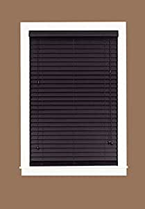 achim home furnishings madera falsa 2 inch faux wood blind 35 inch by 64 inch. Black Bedroom Furniture Sets. Home Design Ideas