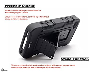 iPhone 4 Case, iPhone 4S Case, NageBee - Advanced Armor Hard Hybrid Case Cover Military Stand Holster Locking Belt Swivel Clip Combo Case for iPhone 4 & 4S by NageBee