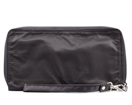 Big Skinny Women's Panther Clutch Slim Wallet, Holds Up to 40 Cards, Black by Big Skinny