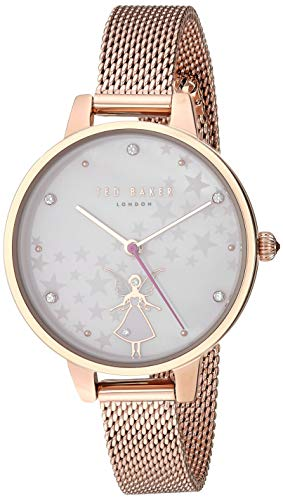 Ted Baker Women's Kate Quartz Watch with Stainless-Steel Strap, Rose Gold, 10 (Model: TE50070017