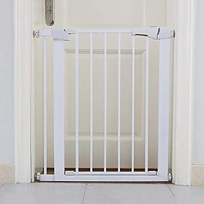 Baby Gate Puerta de seguridad para mascotas ajustable Perro Gato Niños Barrera Inicio Escalera Guardia, Montaje a presión Blanco (Size : 75-82CM): Amazon.es: Bebé