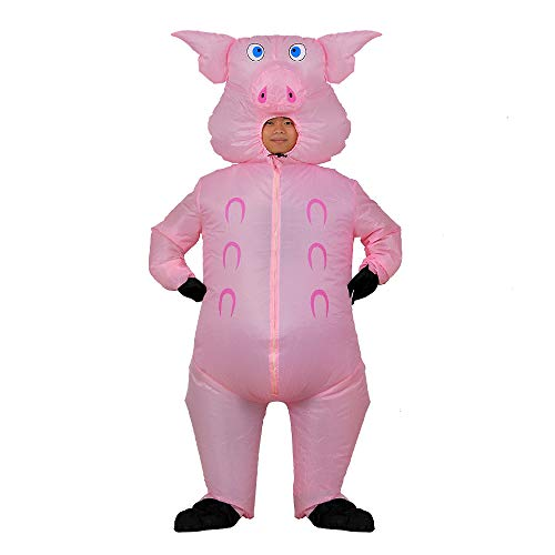 RHYTHMARTS Inflatable Pig Costume Adult Fancy Dress Cosplay Halloween Costume (Pink Pig) -