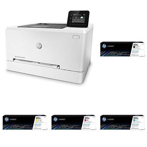 HP LaserJet Pro M254dw Wireless Color Laser Printer (T6B60A) with Standard Yield 4 Color Toner Cartridges