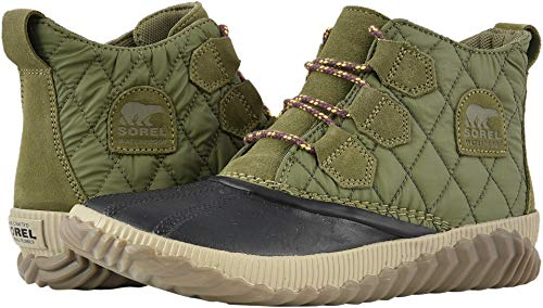 SOREL Women's Out n About Plus Boots, Hiker Green, 9.5 M US