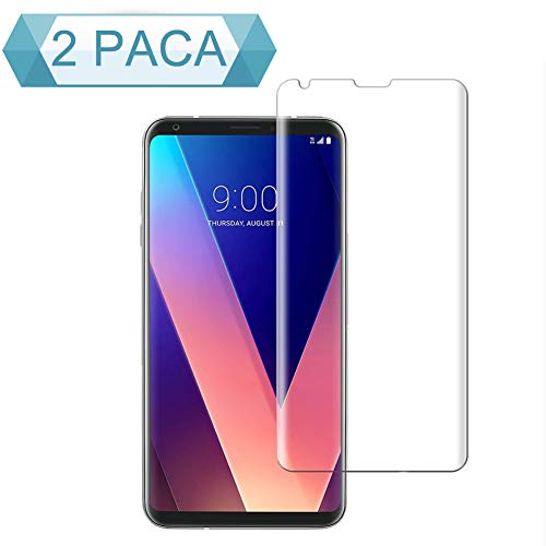 BBInfinite [2-Pack]LG V35 ThinQ Screen Protector 9H Hardness/Anti-Scratch/Anti-Bubble/3D Curved/High Definition/Ultra Screen Protector for LG V35 ThinQ LG V30/V30S ThinQ/V30S+ ThinQ Screen Protector by BBInfinite
