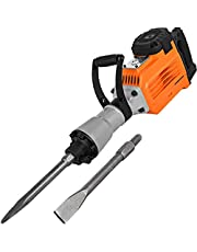 Mophorn Electric Demolition Hammer Heavy Duty, Concrete Breaker Jack Hammer, Demolition Drills with Flat Chisel Bull Point Chisel
