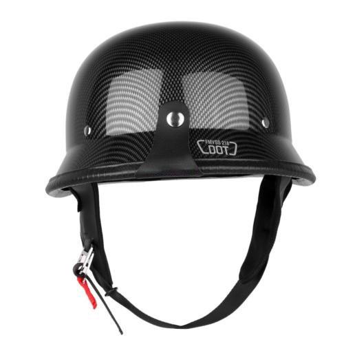 Carbon Fiber Half Motorcycle Helmets - 7