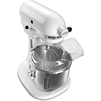 KitchenAid KSM500PSWH Pro 500 Series 10 Speed 5 Quart Stand Mixer, White