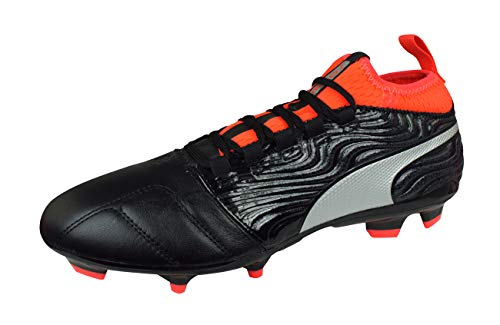 PUMA One 18.3 AG Mens Soccer Boots/Cleats-Black-11.5