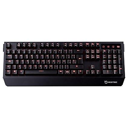 Hiditec - Teclado Gk500 con switches Cherry MX Brown (Estructura de Aluminio, Retroiluminación LED Roja, N-Key Anti-Ghost, Color Negro): Hiditec: Amazon.es: ...