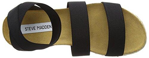 Steve Madden Kimmie Sandal - Sandalias con tacón Mujer Black (Black)