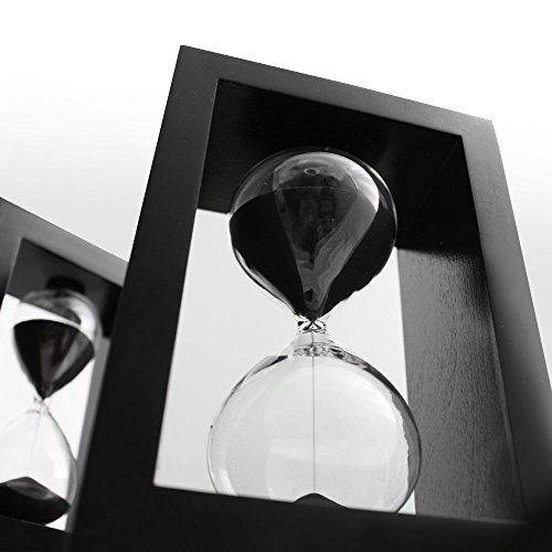 sand timer hourglass black set  management system  60