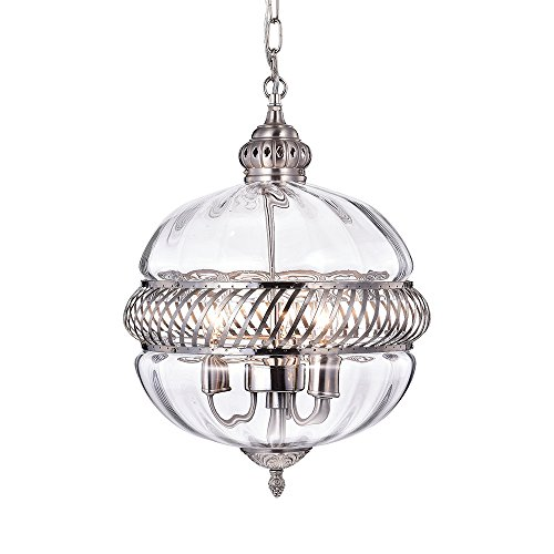 Pendant Lights With Clear Glass Globes in US - 4