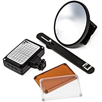 54 LED Video Light Kit with 3 Diffusers (5600k-4200k-3200k) for Canon Rebel EOS-M SL1 SL2 T3 T3i T5 T5i T6i T6s T7i 60D 70D 77D 80D 6D 6D Mark II 7D 7D Mark II 5D Mark III IV