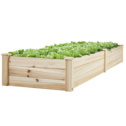 new-8-x-2-wood-garden-raised-bed-vegetables-planter-kit-elevated-box-flower-gardening-grow-plant-her