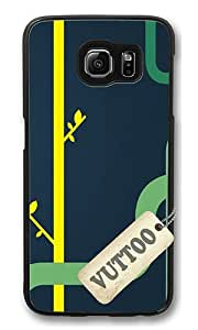 Samsung S6 Case,VUTTOO Cover With Photo: Plumbing Plants For Samsung Galaxy S6 - PC Black Hard Case