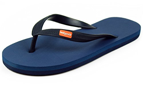 058aae4a63d9 Feelgoodz Men s Classicz Natural Rubber Flip Flops - Incredibly Comfortable  and Highly Durable Premium Natural Rubber