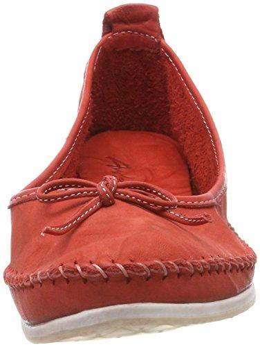 Andrea Conti 0775704, Bailarinas con Punta Cerrada Para Mujer rojo (rojo)