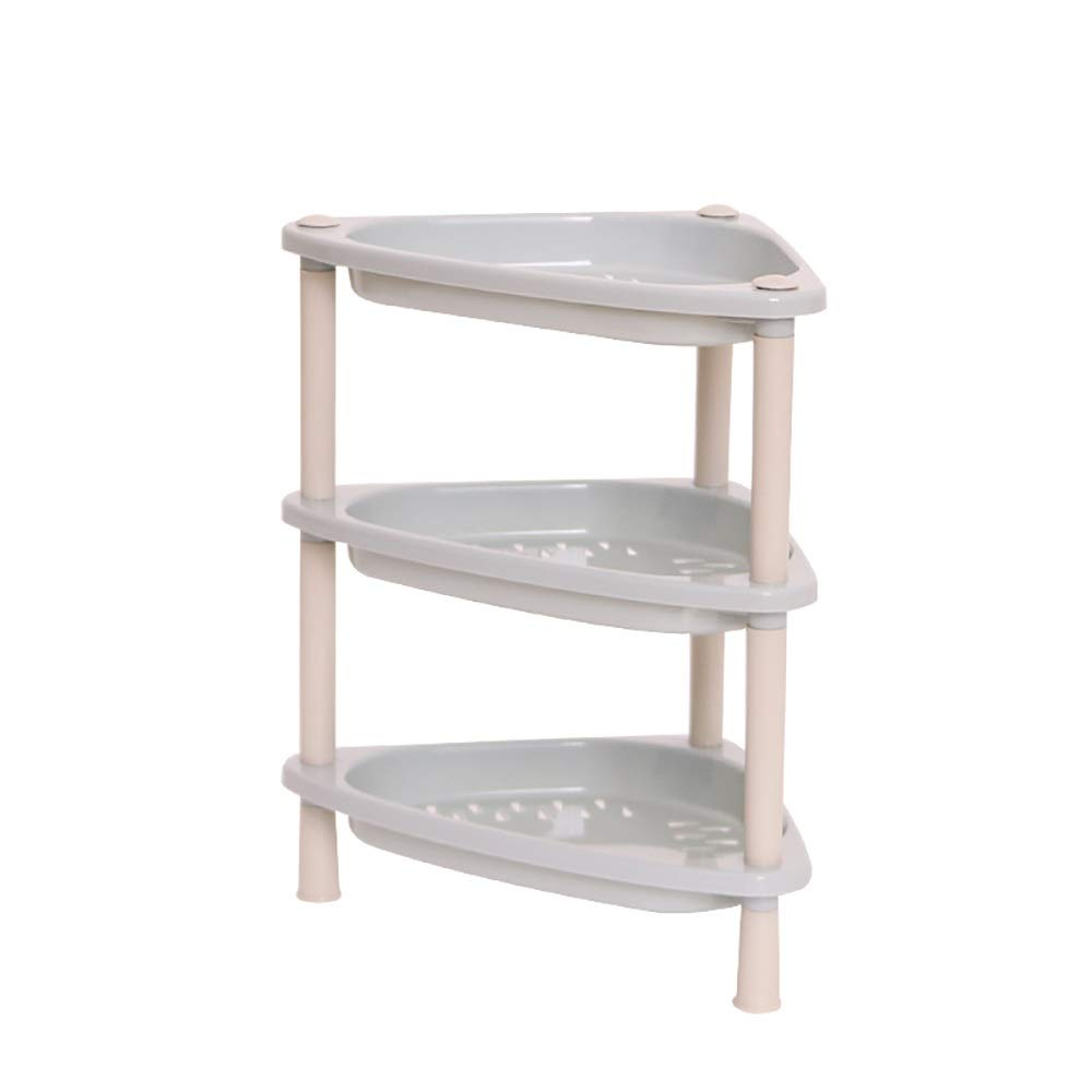 Modern display stand, small desktop storage rack for dormitory, bathroom, bedroom, kitchen (color : Triangle gray)
