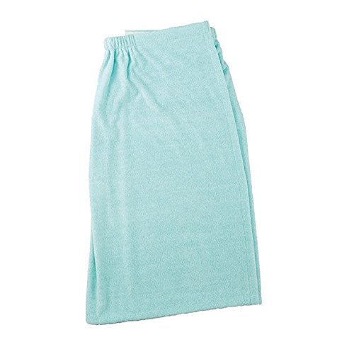 rofiber Terry Cloth Quick Drying Plush Spa Bath or Shower Wrap for Bathroom, College Dorms, Pools, Gyms, Locker Rooms, Beaches (32.5x55) - Aqua ()