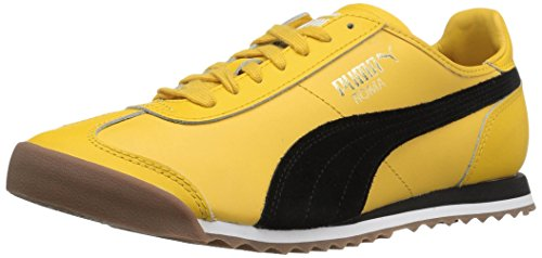 PUMA Men's Roma OG 80S Fashion Sneaker, Solar - Puma Yellow