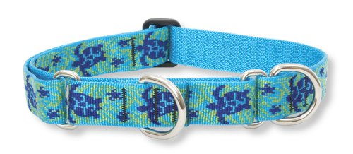 "LupinePet Originals 1"" Turtle Reef 15-22"" Martingale Collar for Medium and Larger Dogs"