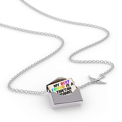 NEONBLOND Locket Necklace My Best Friend a Tibetan Spaniel Dog from Tibet in a Silver ()