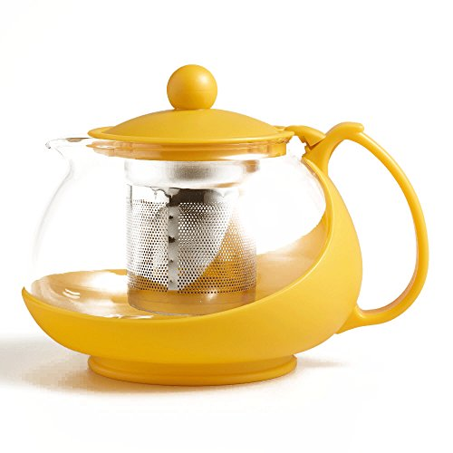 Yellow Infuser Teapot Removable Stainless product image