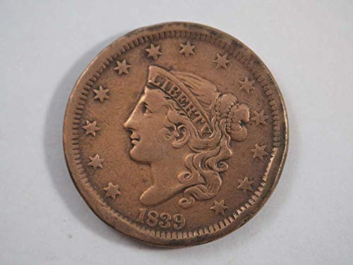 1839 P Coronet Large Cent Large Cents Ungraded