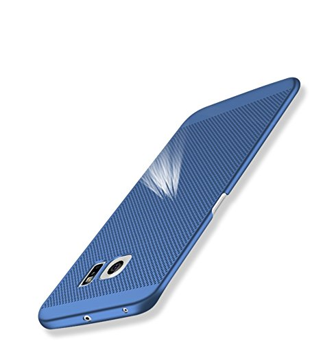 Funda Samsung Galaxy S6 edge Plus,Alta Calidad Ultra Slim Anti-Rasguño y Resistente Huellas Dactilares Totalmente Protectora Caso de Plástico Duro Case,Cuadrícula Disipación de calor Antideslizante D