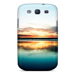 Awesome Harbour Sunset Flip Case With Fashion Design For Galaxy S3