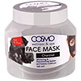 Cosmo Wellness and Spa Charcoal Face Mask 16.9 oz Whitening and Rejuvenating System